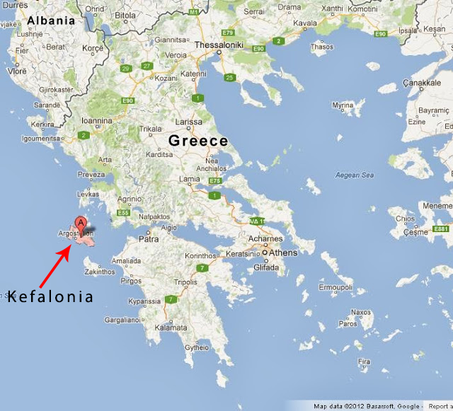Oskars accommodation Maps of Kefalonia Kefalonia information